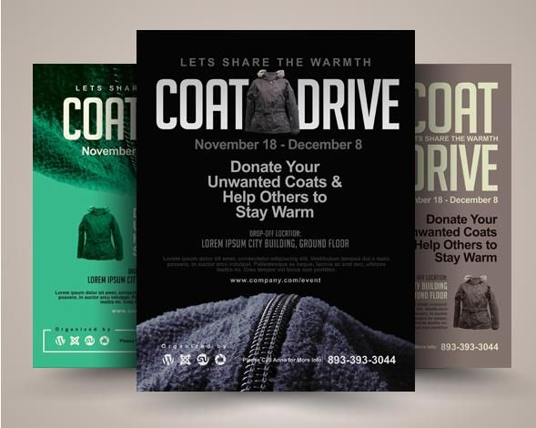 Printable Coat Drive Flyer Templates – PSD,Indesign,Ai,Word