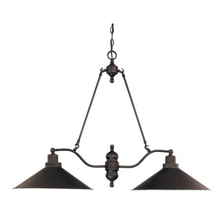 Finished in antiqued bronze, this industrial-inspired pendant is perfect for illuminating your kitchen range or billiards table.      ...