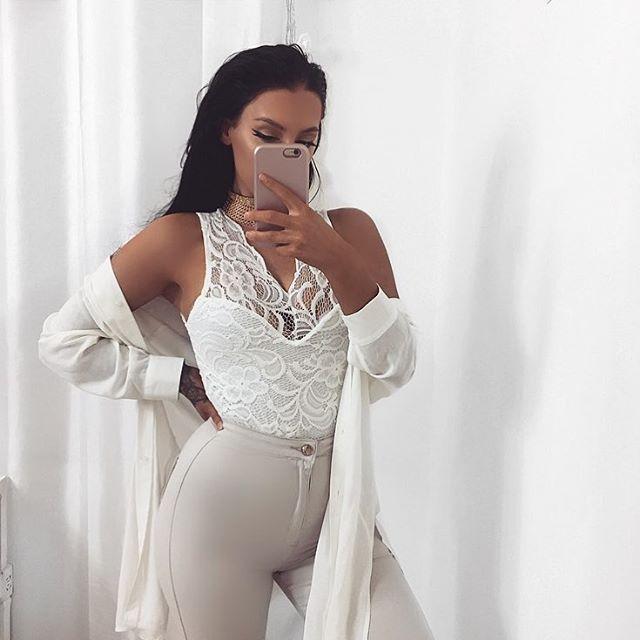 Lace bodysuit  @rebelliousfashion  Use code KATY20