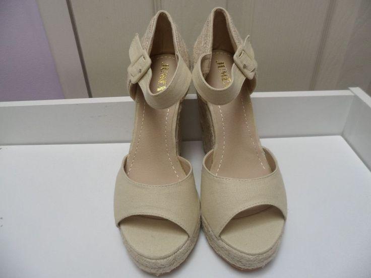Womens Ladies Beige Platform High Wedge Heel Shoes Sandals Size UK 4,5,6,7,8 New  Useful Info:  - Standard Size - Standard Fit - By Jumex - Beige In Colour - Heel Height: 5 Inches - Platform: 1.5 Inches - Buckle Side Fastening - Ankle Strap #sandals #shoes #beige #wedge #wedges #platform #highheel #highheels #buckle #espadrille #summer #opentoe #fashion #footwear #forsale #womens #ladies #ebay #ebayseller #ebayshop #ebaystore