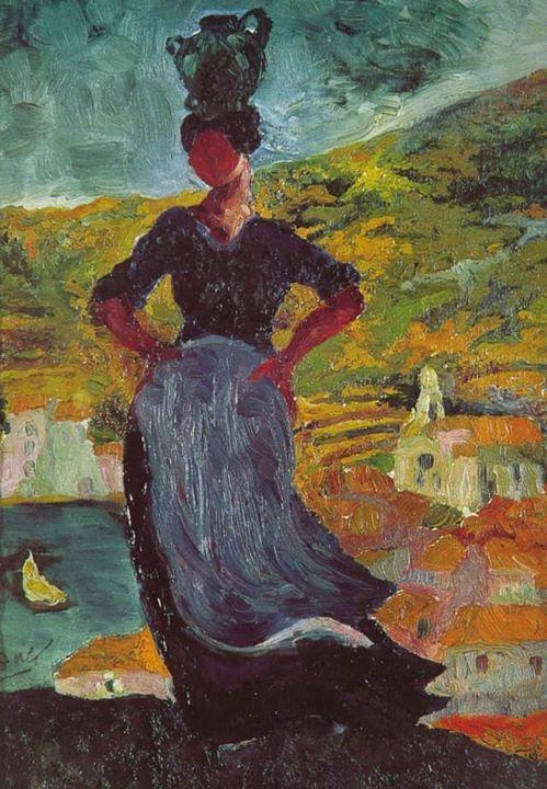 Portrait d'Hortensia, paysanne de Cadaqués (Portret Hortensji, wieśniaczki z Cadaqués), 1918-1919 olej, płótno; 35×26 cm  #salvadordali #salvadordalipolska