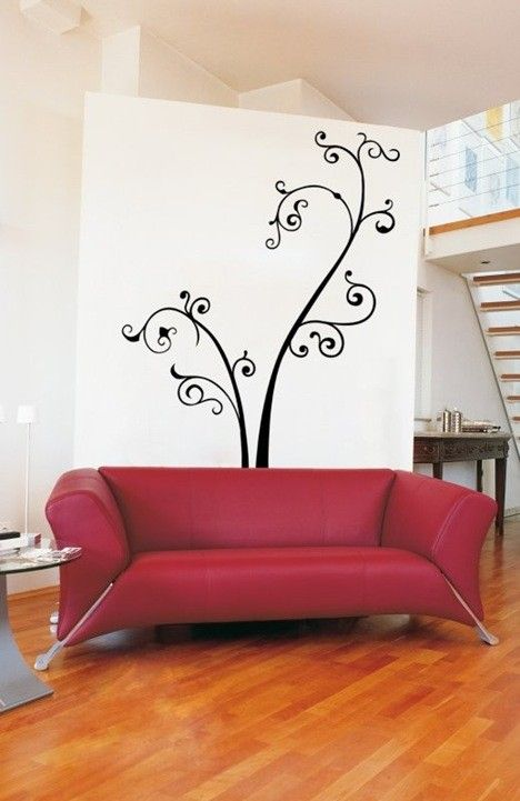 Thinking about doing this design on my wall in my bedroom...in red.