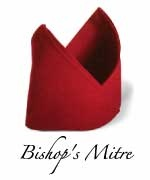 How to: Bishop's Mitre napkin foldNapkins Folding, Mitre Napkins, Folding Napkins, Bishop Mitre, Tablescapes Napkins, Dinner Parties, Napkin Folding, Tablescapes T Sets, Table