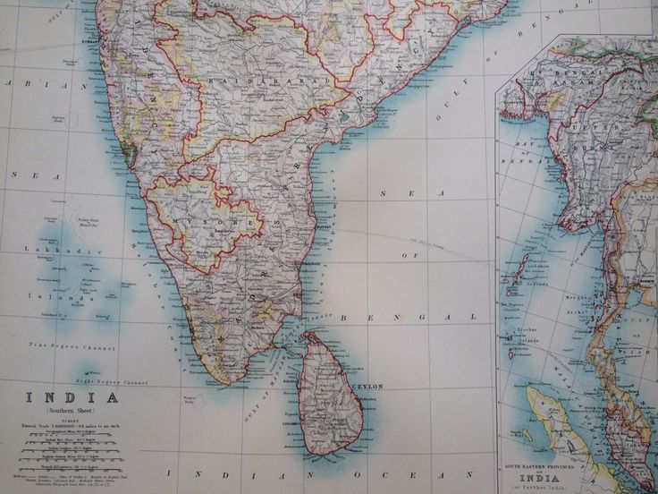 Best India Images On Pinterest Antique Maps Wall Decor And - China historical map 1890 1907