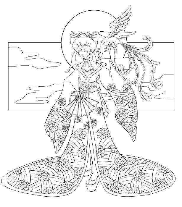 Lineart : Japanese except not by Quatrina.deviantart.com on @deviantART