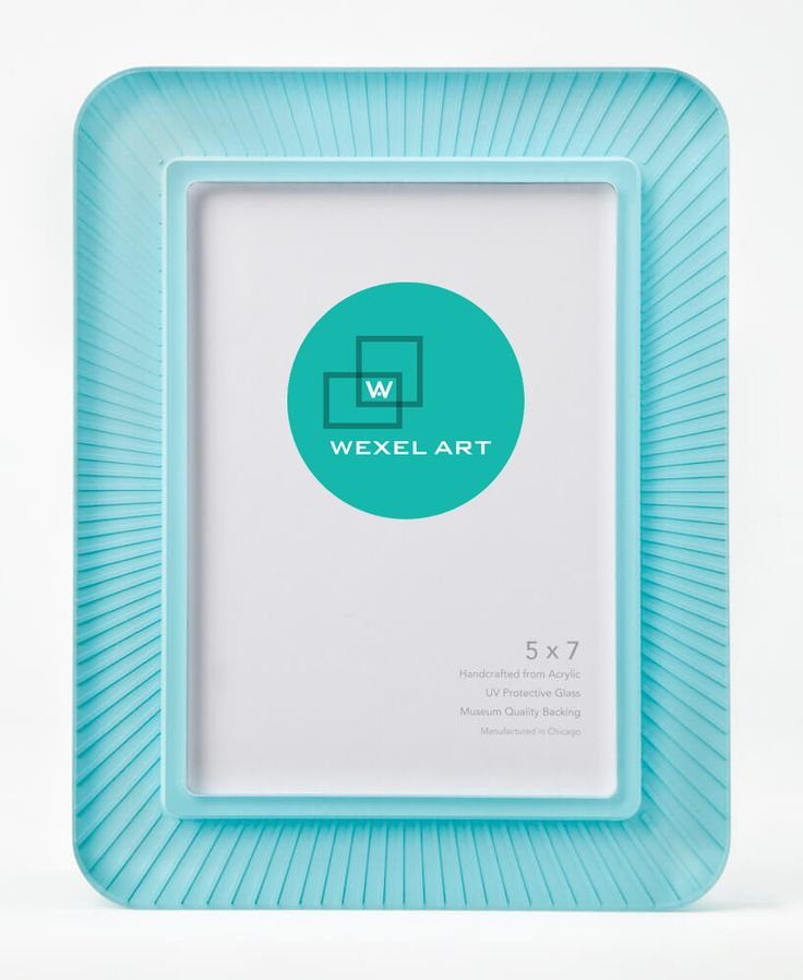 "5"" x 7"" Rays Teal Wexel Tabletop Frame"