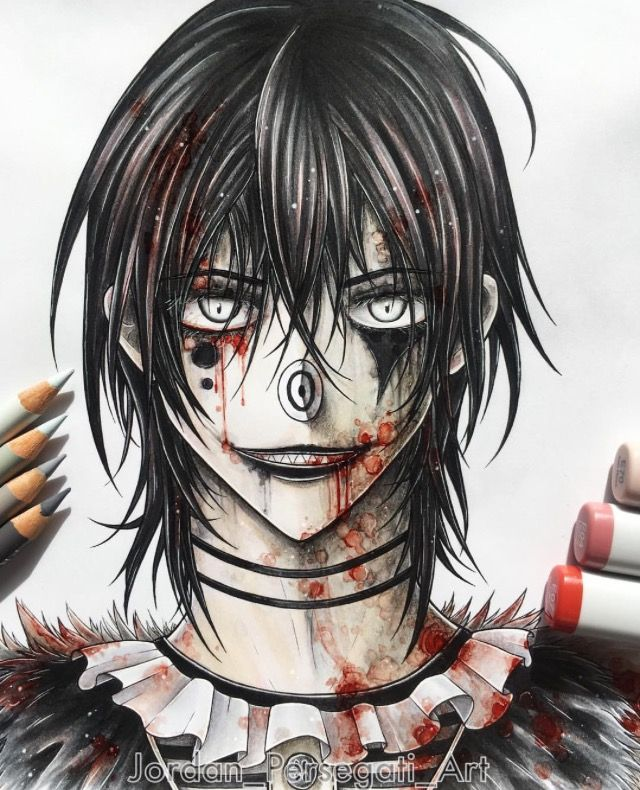Laughing Jack creepypasta art, anime, hot !!!