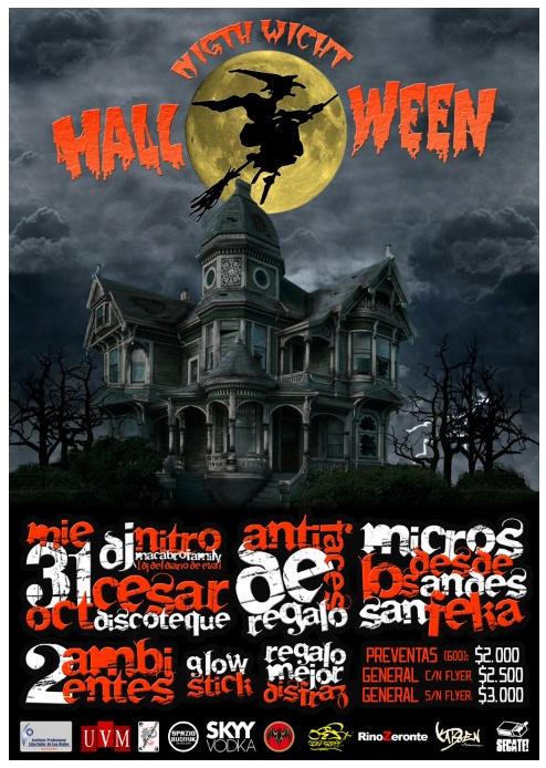 Afiche, Halloween.