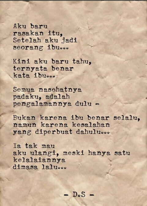 Puisi - Puisi Singkat - Puisi cinta - Ibu - Puisi tentang ibu - Poems - Poetry #Indonesia