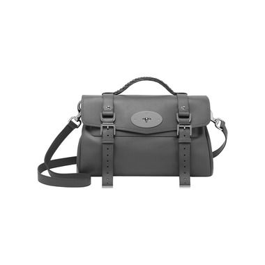 Mulberry Colour - Grey | Mulberry - Alexa in Pavement Grey Silky Classic Calf