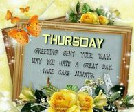 Thursday Greeting Sent Your Way