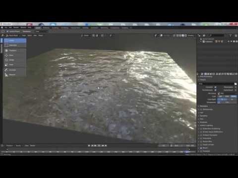Water animation in blender 2 8 eevee - YouTube   Blender in 2019