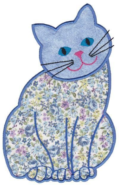 OregonPatchWorks.com - Sets - Contented Cats Applique Set 1 Large