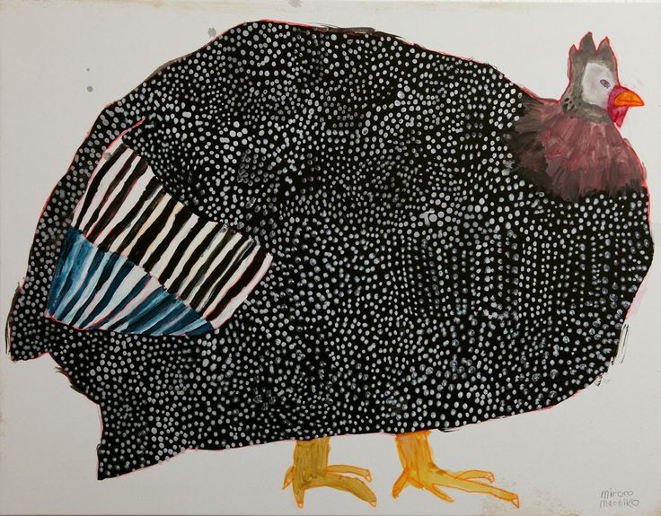 Guinea fowl...the head isn't the head of a Guinea but I love it just the same.