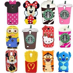 3D Cute Cartoon Soft Silicone Back Cover Case for Samsung Galaxy S4 Mini S5 Mini | eBay