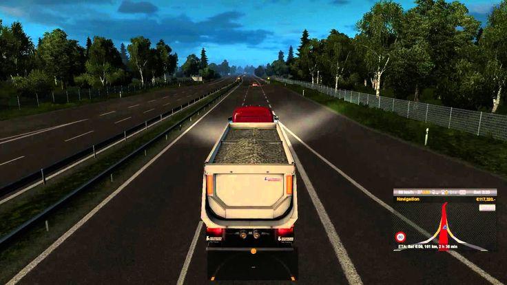 #9 Euro truck simulator 2 scania streamline r370 gravel transport from j...