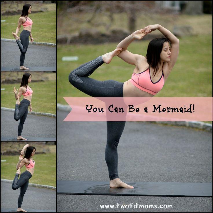 Two Fit Moms Mermaid Pose Tutorial.