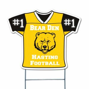 Football Jersey Yard Sign