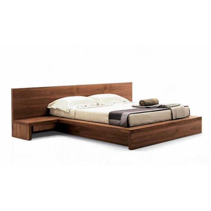 Contemporary Living King Size Bed With Integrated Bedside Tables