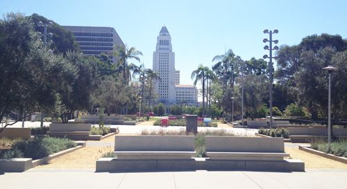 Grand Park Los Angeles by City Hall on Milkweed: Park Dweller or Beach Bum