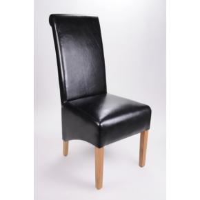 Krista Bonded Leather Dining Chair Black  www.easyfurn.co.uk
