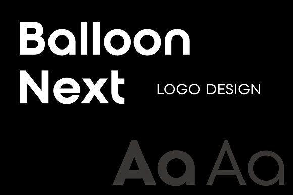 Balloon Next Logo Design By Onetype On Creativemarket Logos
