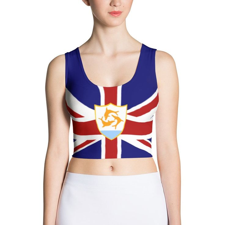 Anguilla Flag - Women's Fitted Crop Top