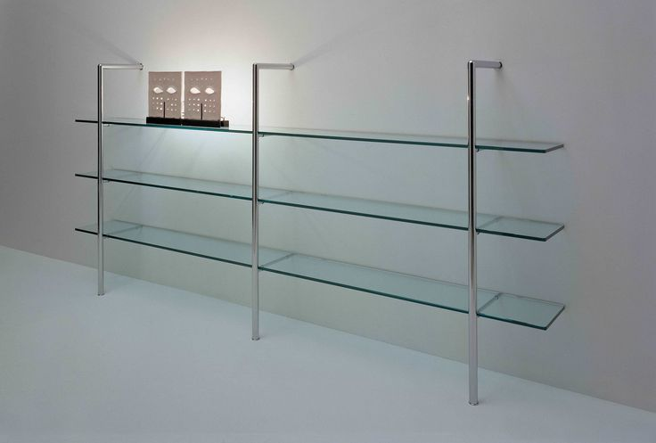 Glass Wall Shelf With Iron Rods In 2019 Modern Room