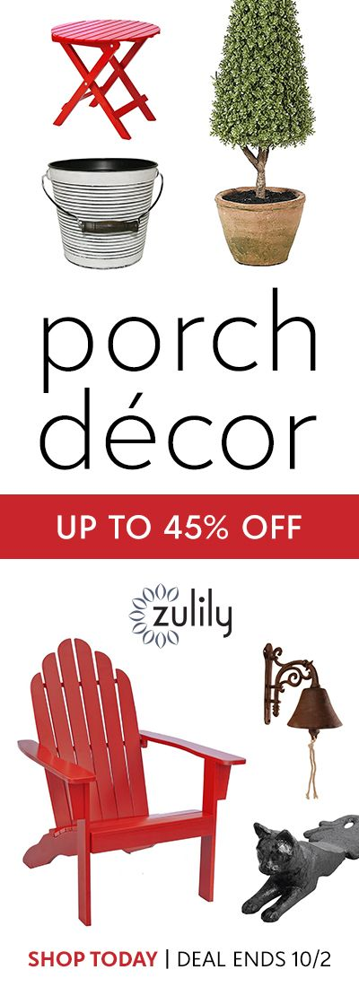 Sign Up To Shop Home Decor For Your Front Porch, Up To 45% Off. Decorate  The Outdoors With Pretty Planters And Warm Lanterns, Then Sit Back And Relax  In A ... Part 60