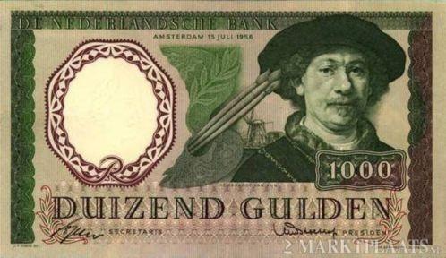 1000 gulden...WOW nog noooit in het echie gezien toen!