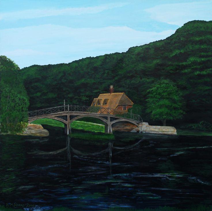 "Contemporary Painting - ""Nunham Courtenay 2"" (Original Art from Robert Harris)"