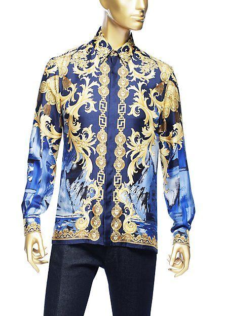 versace barocco camouflage silk shirt james style pinterest silk shirts shirts and versace. Black Bedroom Furniture Sets. Home Design Ideas