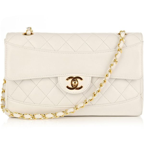 Chanel Vintage Quilted small-logo bag found on Polyvore