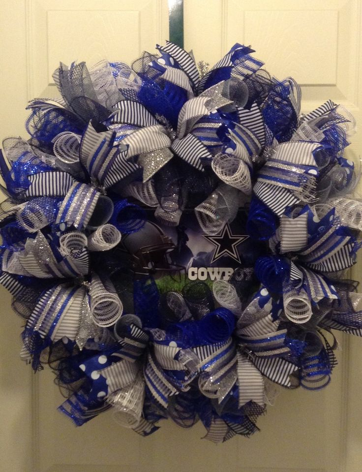 A personal favorite from my Etsy shop https://www.etsy.com/listing/261398762/custom-26-dallas-cowboys-deco-mesh
