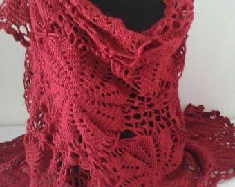 sciarpa lavorata a maglia scialle caldo fatto a mano regalo per le donne un esclusivo scialle traforata ucraino Natale mohair acrilico