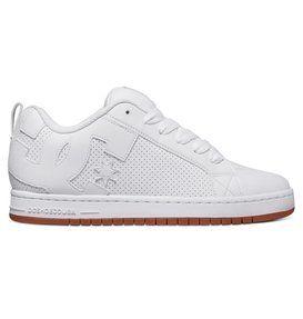 dcshoes, Men's Court Graffik Shoes, WHITE/WHITE/GUM (hwg)