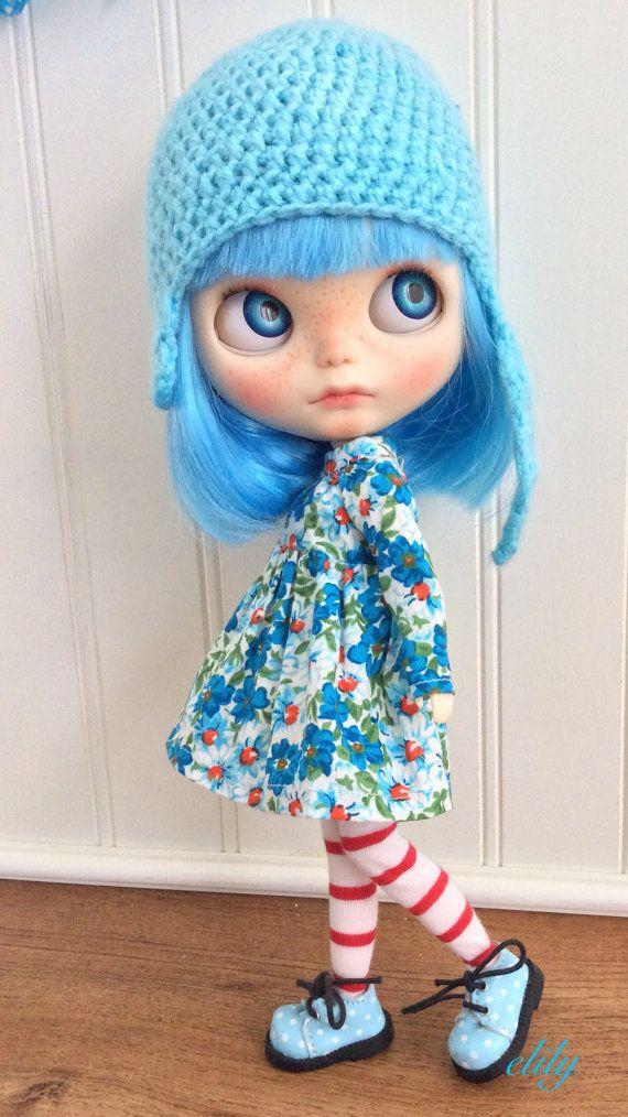 OOAK Custom Blythe Doll Fig by electricblueblythe on Etsy