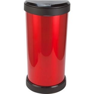 Buy Curver 40 Litre Deco Touch Top Kitchen Bin - Red and Black at Argos.co.uk, visit Argos.co.uk to shop online for Kitchen bins