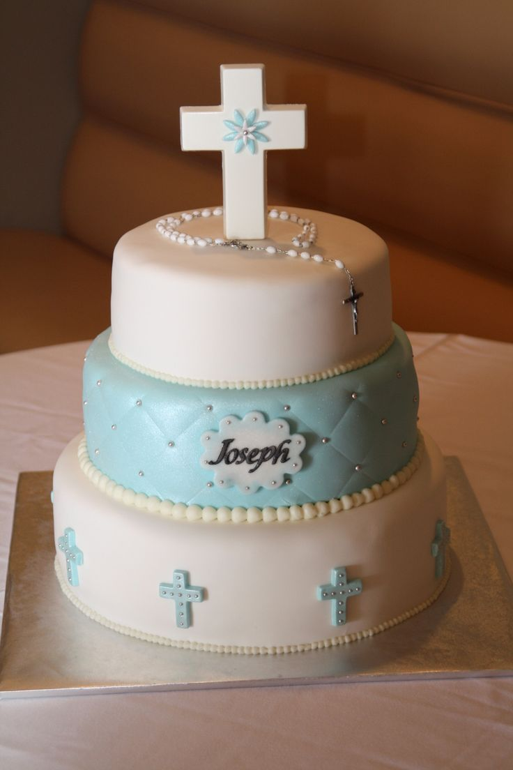 Baby Boy Christening Will S Baptism Boy Communion Cake