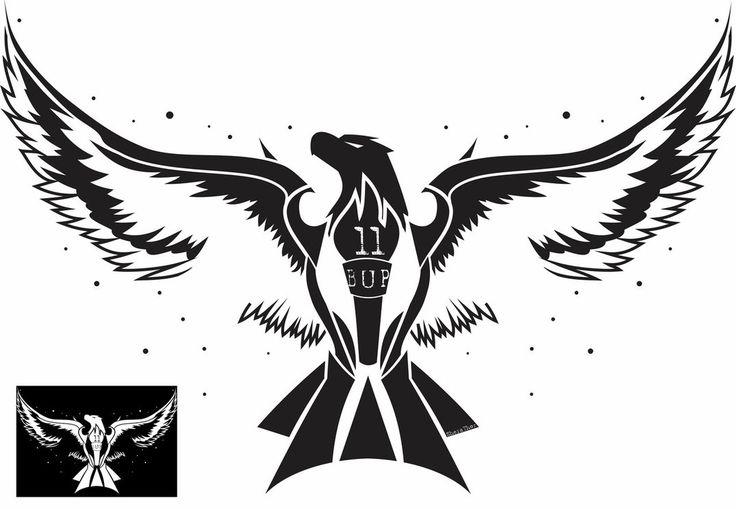 Black Eagle Tattoo Design