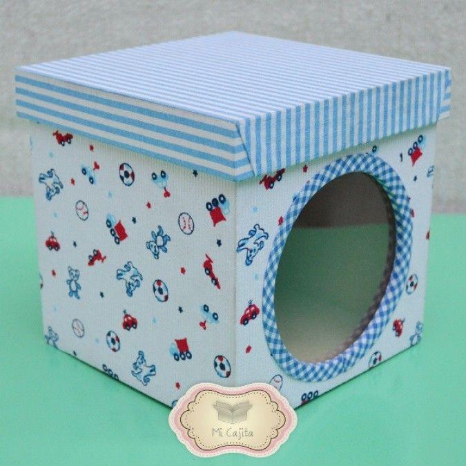 17 mejores ideas sobre cajas forradas con tela en - Cajas de carton pequenas decoradas ...