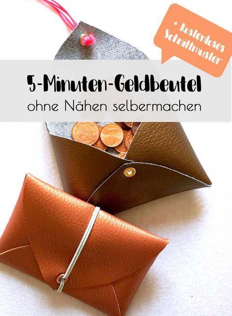 5-Minuten-DIY: Geldbeutel ohne Nähen selbermachen – Alexandra Müller