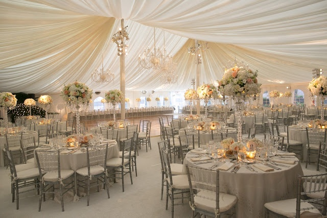 I love the idea of a tent wedding! wedding colors. Neutral tones with very warm lighting