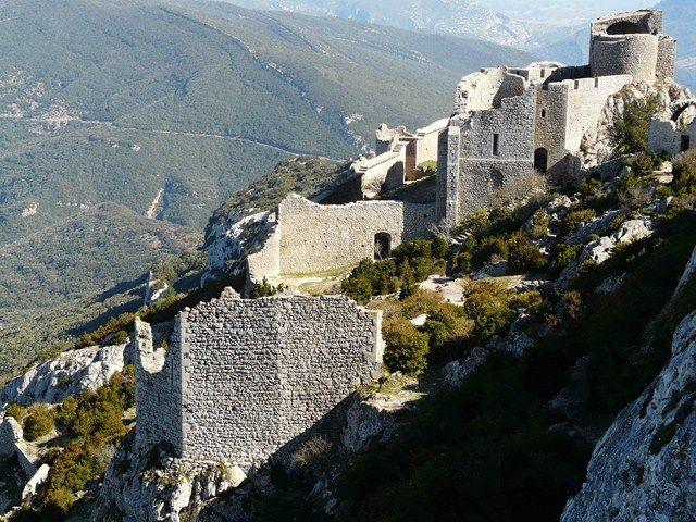 Castell de Peyrepertuse (Ruta dels càtars), France.