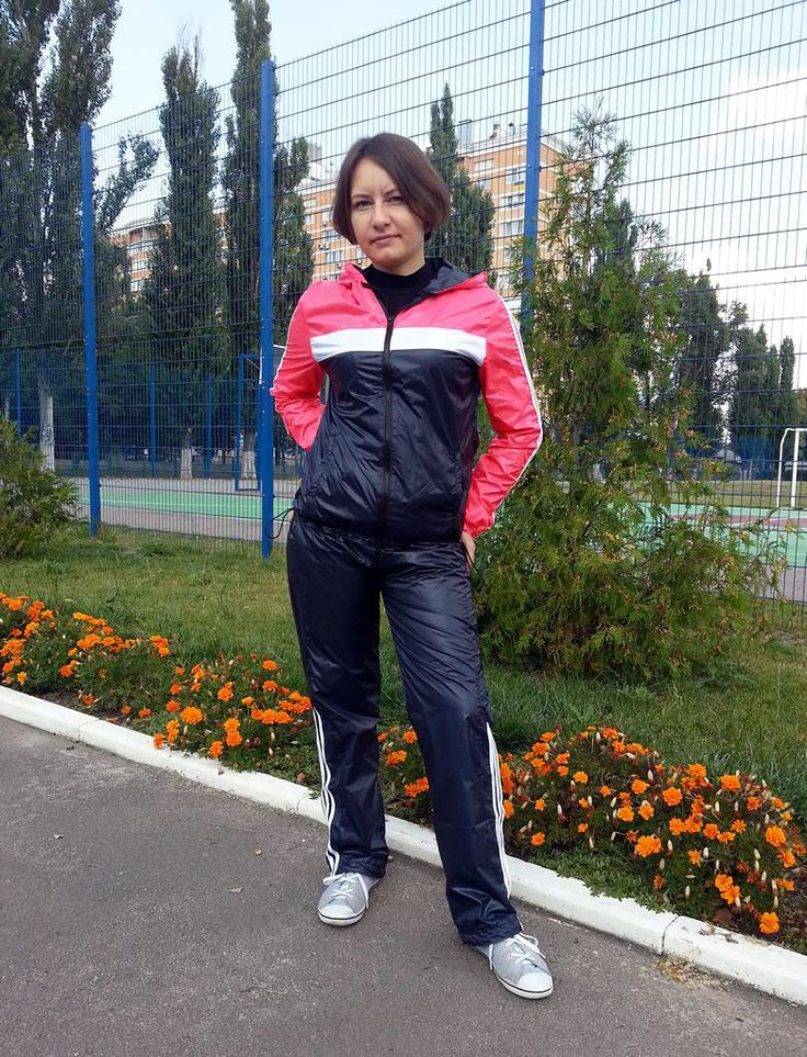 Lovely Lady In Sexy Tracksuit Women Nylon Wear