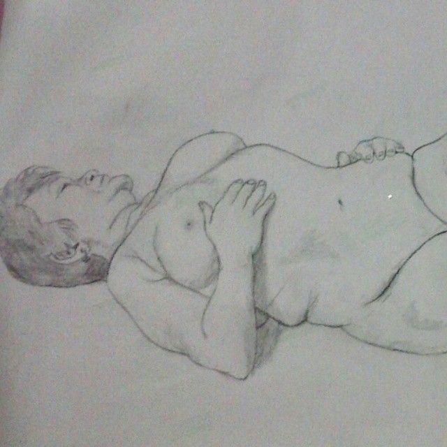 Dibujo que hice en clase de figura humana con una modelo real (parte 1) #pintura #painting #figurahumana #drawing #señora #oldwoman #charcoal #modelo #luminouspirit #desnudo #nude #dibujo