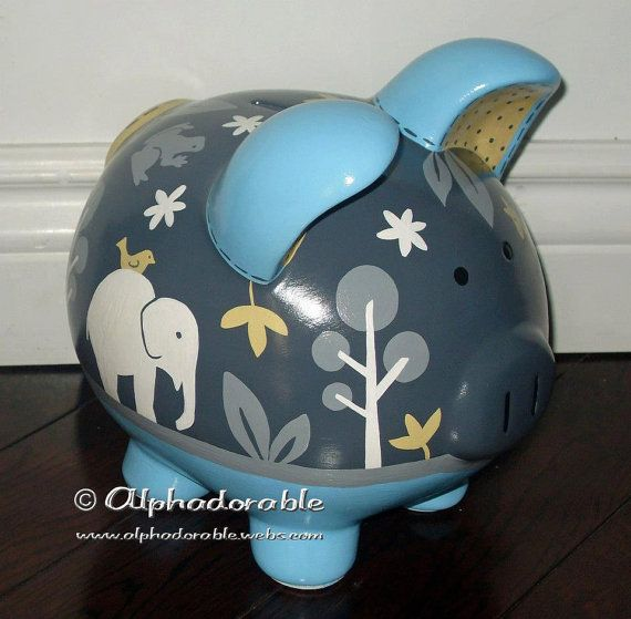 17 best images about piggy bank designs on pinterest for How to paint a ceramic piggy bank