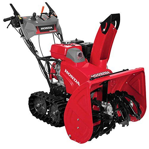 """Honda HSS928ATD 270cc Two Stage Electric Start Track Snow Blower >  Honda HSS928ATD 270cc Two Stage Electric Start Track Snow Blower Two stage Track drive, with adjustable auger height 270cc Honda GX OHV engine Clears 28"""" wide, 1900 lb./min Throws snow up to... Check more at http://farmgardensuperstore.com/product/honda-hss928atd-270cc-two-stage-electric-start-track-snow-blower/"""
