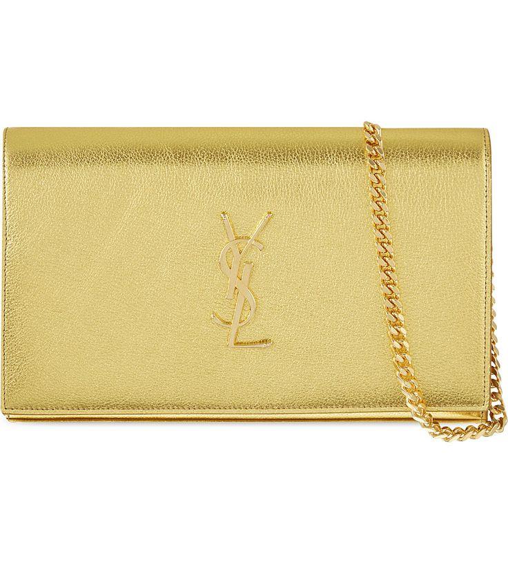 SAINT LAURENT - Metallic leather cross-body bag | Selfridges.com