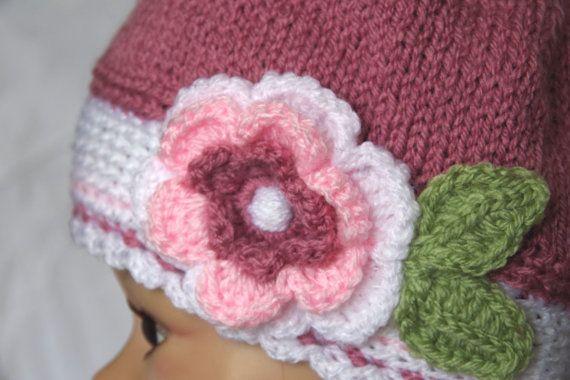 Crochet Children's hatKnitting colorfull flowerCrochet by Degra2